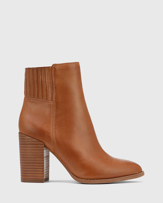 Wittner - Women's Brown Ankle Boots - Handler Leather Block Heel Ankle Boots - Size One Size, 36 at The Iconic