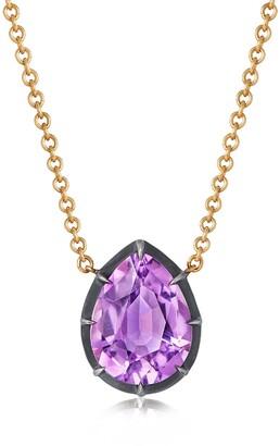 Fred Leighton Collet Teardrop Stone Pendant Necklace