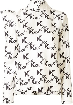Dice Kayek Geometric Patterned Top