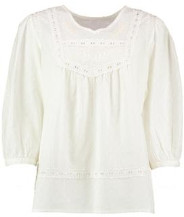 Lowie White Embroidered Blouse - S - White