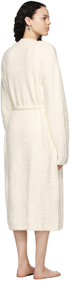 Thumbnail for your product : SKIMS Off-White Knit Cozy Robe