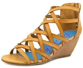 Blowfish Blip Women Open Toe Synthetic Tan Wedge Sandal.