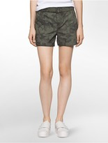 Calvin Klein Floral Belted Utility Shorts