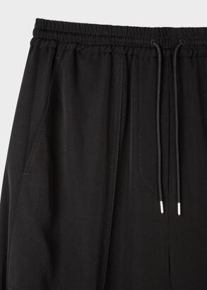 Paul Smith Women's Black Wool Cuffed Sweatpants