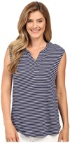 Calvin Klein Jeans Short Sleeve Striped Henley