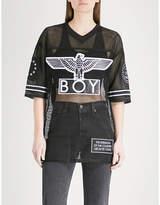 Boy London Eagle mesh T-shirt