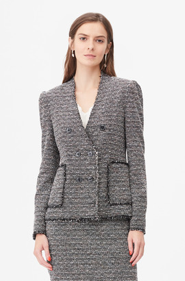 Rebecca Taylor Tailored Static Tweed Jacket