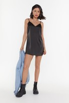 Nasty Gal Womens Basic Satin Mini Dress - Black - 12, Black