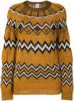 Nude metallic knitted jumper