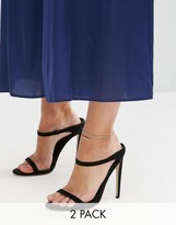 Asos Pack of 2 Fine Ball Charm Anklets