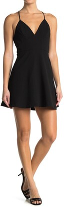 BCBGeneration Strappy V-Neck Dress