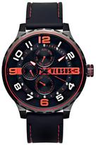 Versus By Versace Globe Quartz Movement Black Dial Watch, 50mm