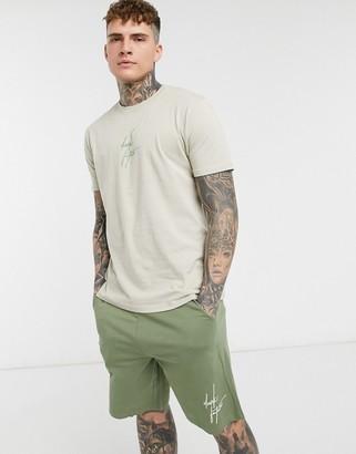 ASOS Dark Future lounge t-shirt and short pyjama set