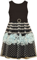 Bonnie Jean Ballerina Soutch Dress with Border Print - Girls 7-16