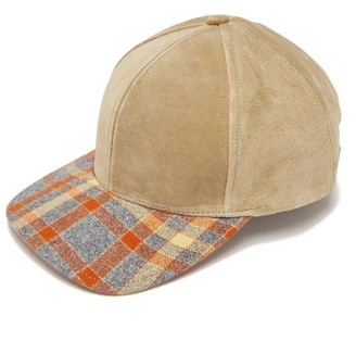 Lafayette House Of Plaid-brimmed Suede Cap - Womens - Multi