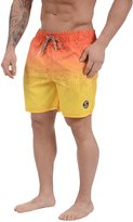 Tokyo Laundry Men's Cleopas Ombre Swim Shorts (, Yellow/Orange)