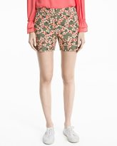 White House Black Market 5-inch Floral Print Coastal Stretch Shorts