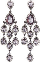 Fragments for Neiman Marcus Crystal Statement Chandelier Earrings, Gray
