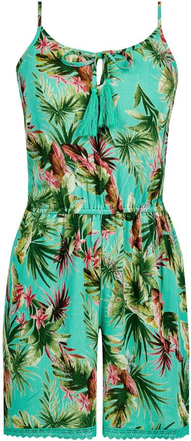 43aded5d11 Tropical Print Playsuit - ShopStyle Australia