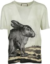 Gucci Sage Green Rabbit T-shirt