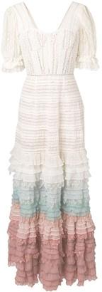 Jonathan Simkhai layered frill knitted dress
