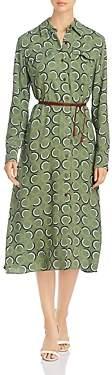 Lafayette 148 New York Mandalyn Belted Shirt Dress
