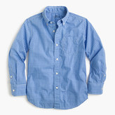 J.Crew Kids' Secret Wash shirt in microgingham