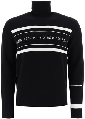 Alyx Turtleneck Sweater Logo Intarsia