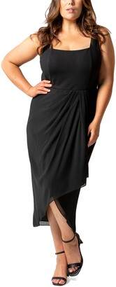 Ever New Jeanine Tulip Hem Midi Dress