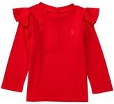 Ralph Lauren Cotton Jersey Ruffle Knit Top (Infant)