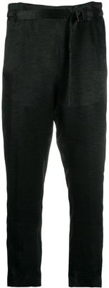Ann Demeulemeester Cropped Belted Trousers