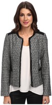 NYDJ Metallic Leather Tweed Jacket