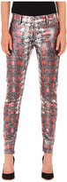 Just Cavalli Shiny Snake Print Skinny Denim