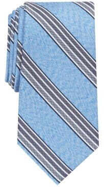 Perry Ellis Men's Gibbon Slim Checker Stripe Tie