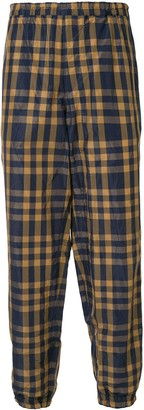 Kolor Elastic-Waist Check Trousers