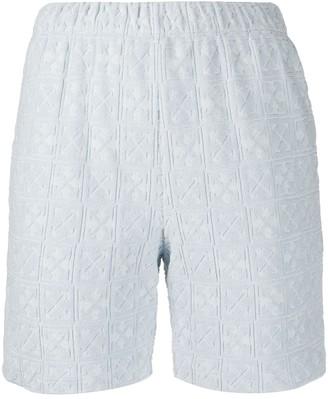 Off-White Arrows logo track shorts