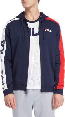Fila Stan Stripe Sleeve Full Zip Hoodie