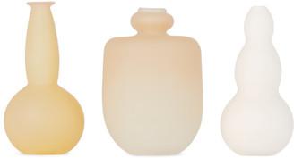 Verre dOnge SSENSE Exclusive Beige Small Vase Set
