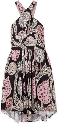 Isabel Marant Jan Printed Pleated Crepe Mini Dress