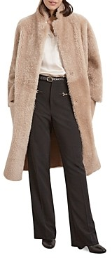 Gerard Darel Edith Reversible Shearling Coat