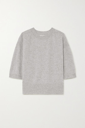 LOULOU STUDIO Hao Melange Cashmere Sweater - Gray
