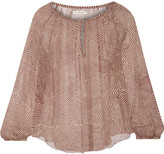Etoile Isabel Marant Delta printed silk-chiffon top