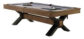 Plank & Hide Nicolas 8' Slate Pool Table With Professional Installation Included Felt Color: Navy
