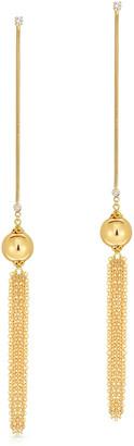 Fern Freeman Jewelry 18K Diamond & Yellow Gold Ball Drop Fringe Earrings