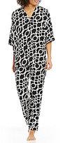 N by Natori Linked-Print Challis Pajamas