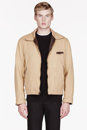 Levi's CLOTHING Brown leather 1940s reversible jacket