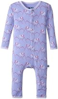 Kickee Pants Fitted Coverall (Baby) - Forget Me Not Mountain Goat - 3-6 Months