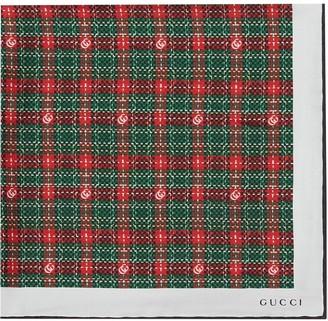 Gucci Check-Print Pocket Square