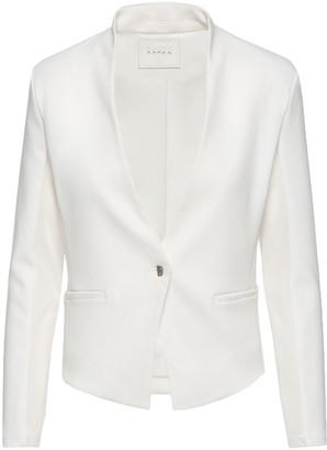 Blank NYC Mesh Mix Drape Front Jacket