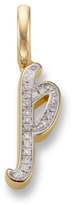 Monica Vinader Diamond Alphabet Pendant P
